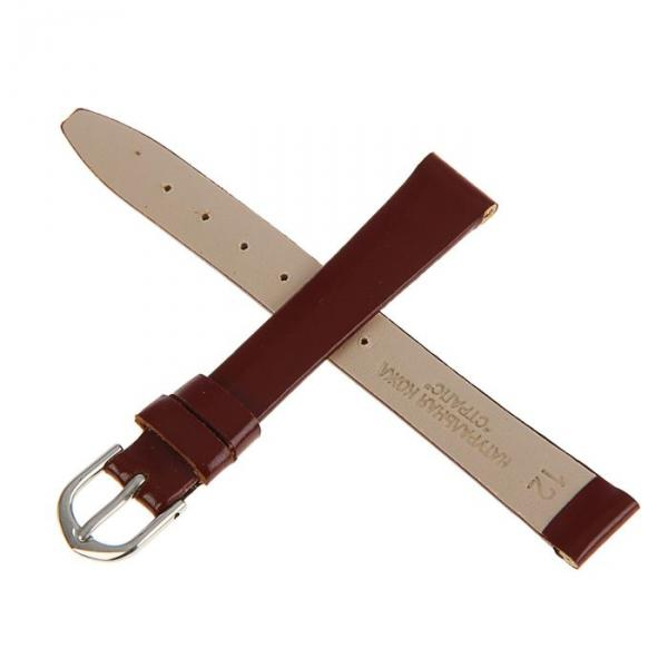 Ремешок для часов, женский, 12 мм, натуральная кожа, женский, коричневый микс