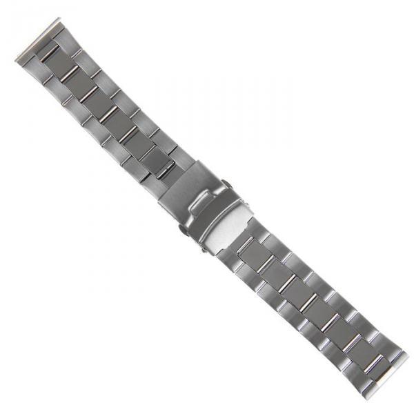 Ремешок для часов 22 мм, металл, серебристый