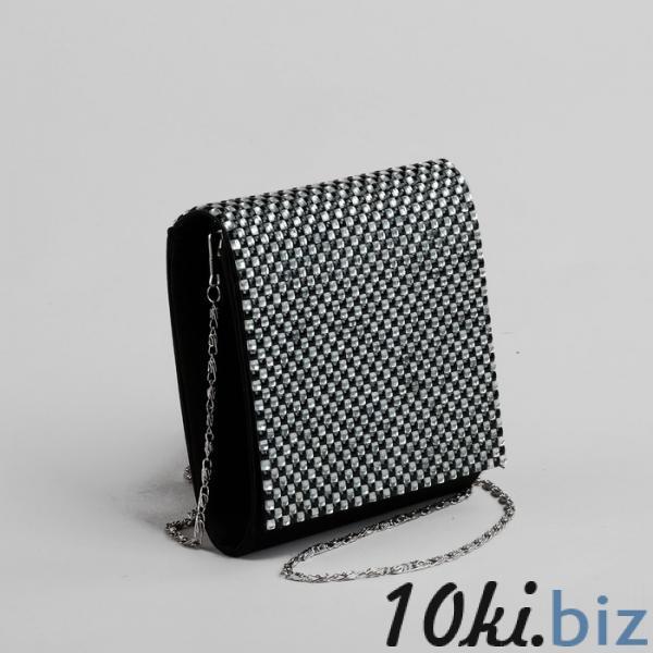 Клатч женский, отдел на клапане, длинная цепь, цвет чёрный купить в Беларуси - Женские сумочки и клатчи