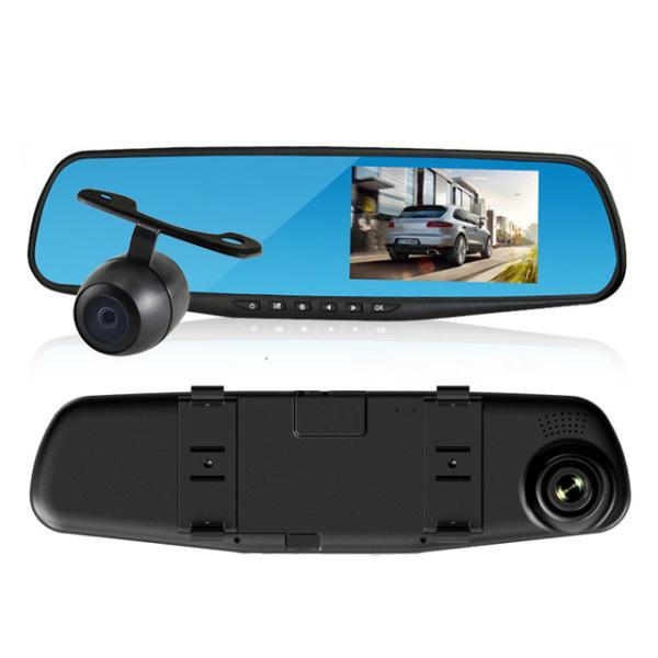 """Регистратор-зеркало L900 3,6"""" + камера заднего вида"""