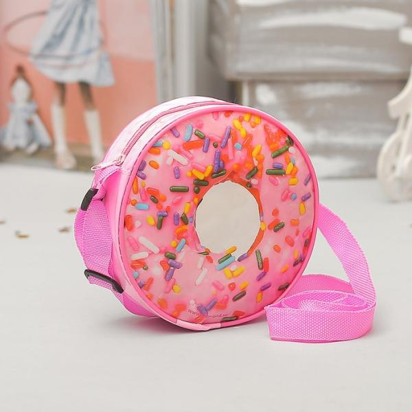 """Сумочка детская """"Вкусный пончик"""" круглая, d=15,5см"""