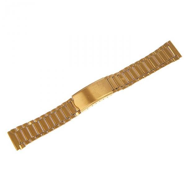 Ремешок для часов 18 мм, металл, золотой, 16 см
