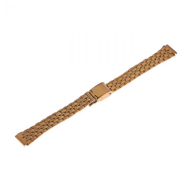 Ремешок для часов 12 мм, металл, золотой, микс, 17 см
