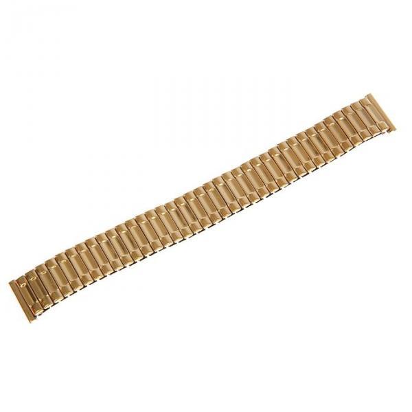 Ремешок для часов 18 мм, металл, золотой, 15 см
