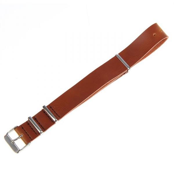 Ремешок для часов, 18мм, экокожа, светло-коричневый, 27см
