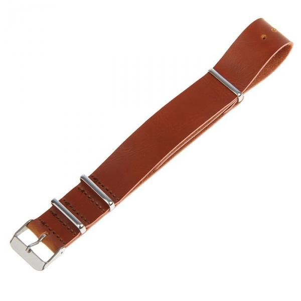 Ремешок для часов 20мм, экокожа, 27см, светло-коричневый