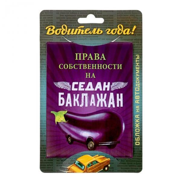 """Обложка для автодокументов """"Баклажан"""""""