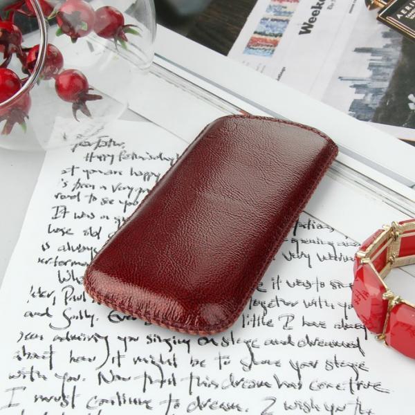 Чехол Time для телефона, с ремешком, размер 23, 47x115x12 мм, цвет рубиновый