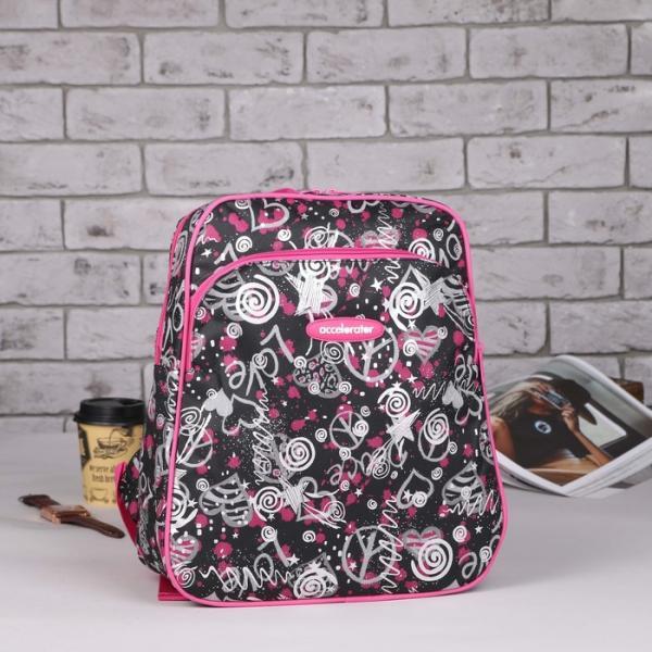 Рюкзак молодёжный, отдел на молнии, наружный карман, усиленная спинка, цвет чёрный