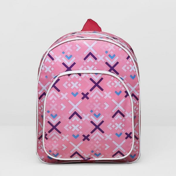 Рюкзак детский, 1 отдел, наружный карман, цвет розовый