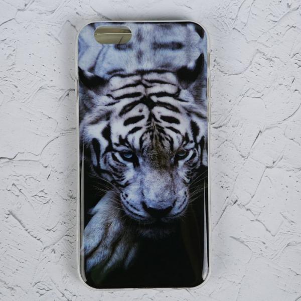 """Силиконовый чехол для iPhone 6/6s """"Белый тигр"""""""
