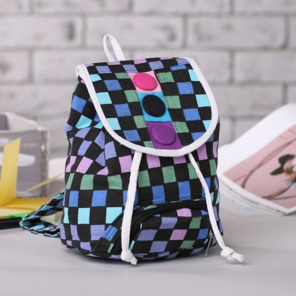 Рюкзак детский, отдел на шнурке,наружный карман, разноцветный/чёрный