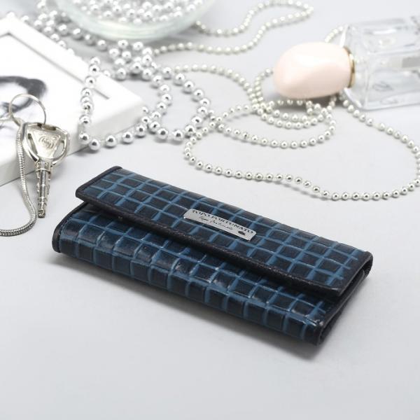 Футляр для ключей, 6 карабинов, внутренний карман, цвет бирюзовый
