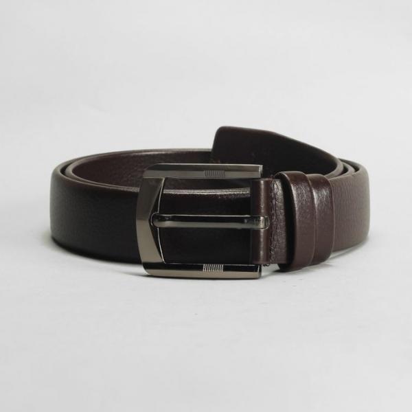 """Ремень мужской """"Леон"""", винт, пряжка тёмный металл, ширина - 3,5 см, цвет коричневый"""