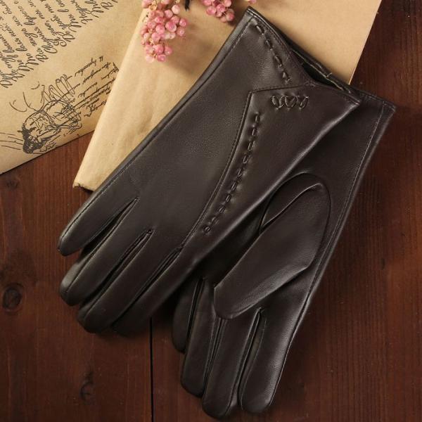 Перчатки женские, размер 7, с подкладом, цвет коричневый