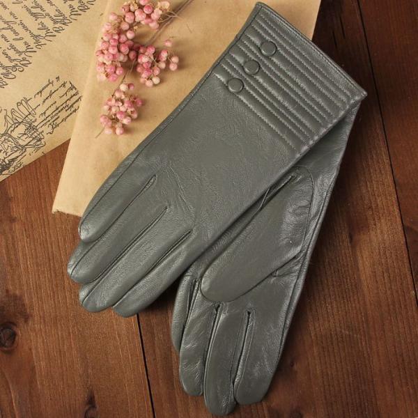 Перчатки женские, размер 7.5, с подкладом, цвет серый
