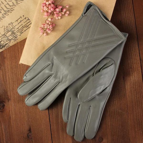 Перчатки женские, размер 8, с подкладом, цвет серый