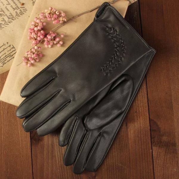 Перчатки женские, размер 8, с подкладом, цвет коричневый