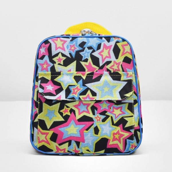 Рюкзак детский, отдел на молнии, наружный карман, цвет чёрный