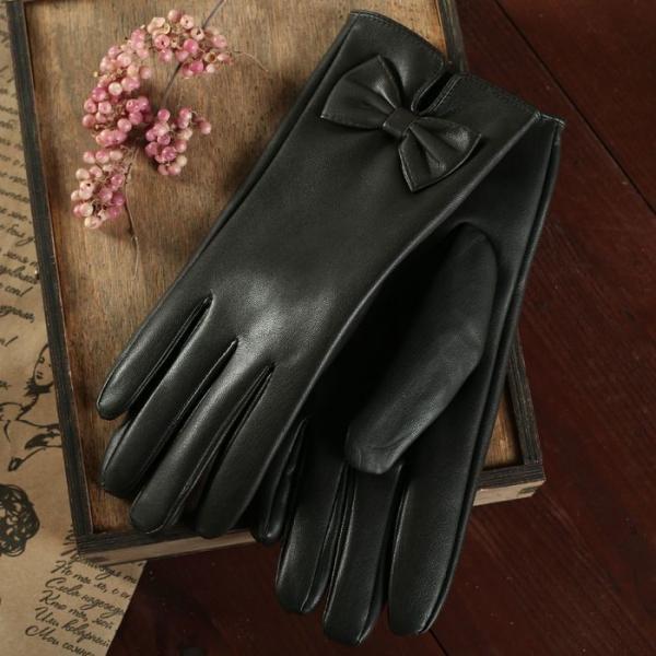 Перчатки женские, р-р 7, подклад искусственный мех, цвет чёрный