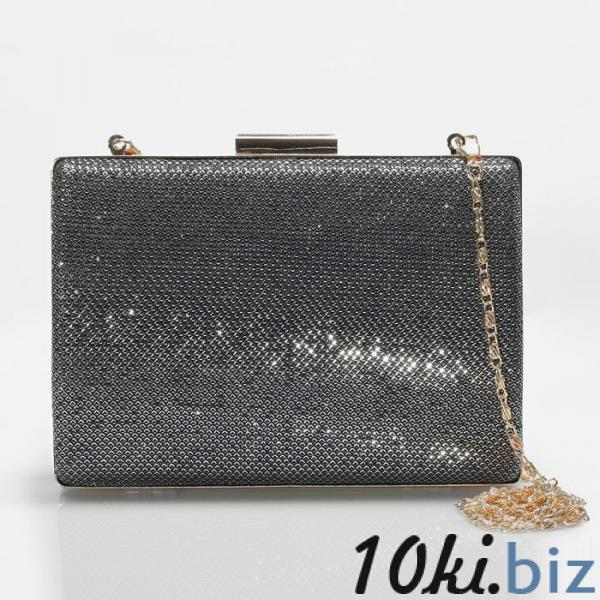 Клатч женский, отдел на фермуаре, цвет серый купить в Гродно - Женские сумочки и клатчи