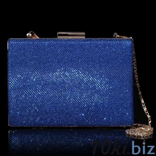 Клатч женский, отдел на фермуаре, цвет синий купить в Гродно - Женские сумочки и клатчи