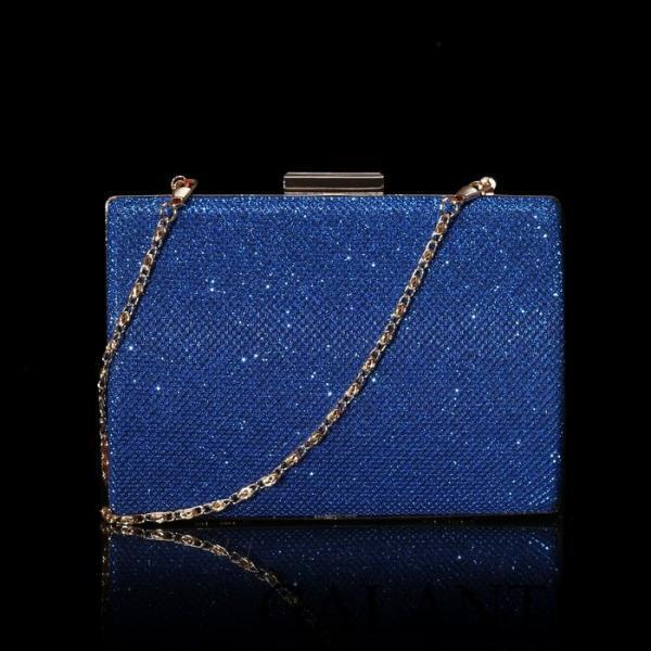 Фото Сумки, Женские сумки, Вечерние сумки Клатч женский, отдел на фермуаре, цвет синий