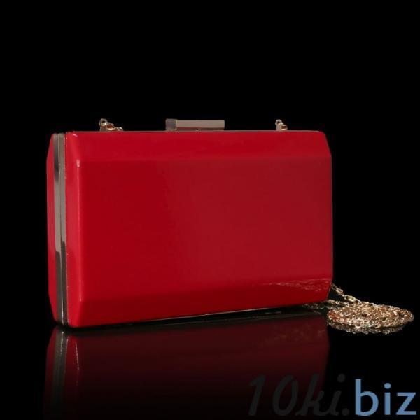 Клатч женский, отдел на рамке, длинная цепь, цвет красный купить в Гродно - Женские сумочки и клатчи