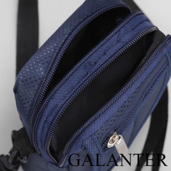 Фото Сумки, Мужские сумки, Поясные сумки Сумка мужская поясная, 2 отдела, 2 наружных кармана, регулируемый ремень, цвет синий