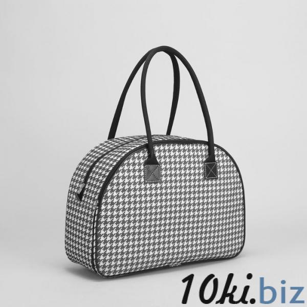 Сумка дорожная, отдел на молнии, наружный карман, цвет чёрный/белый купить в Беларуси - Дорожные сумки и чемоданы