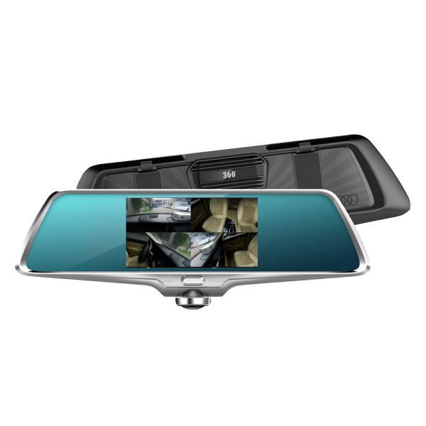 Фото  Регистратор-зеркало K15 камера 360 градусов + камера заднего вида + сенсорный экран