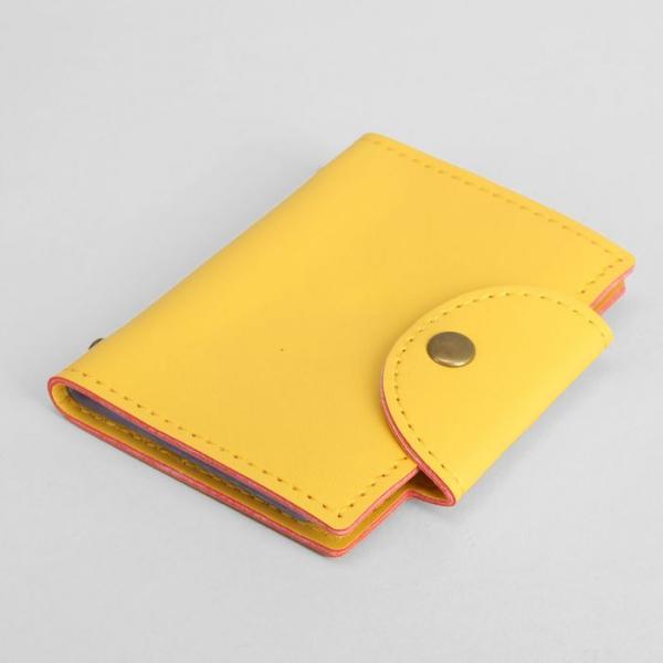 Визитница Одноцвет, 8,5*1,5*10,5см, 20 холдеров, желтый