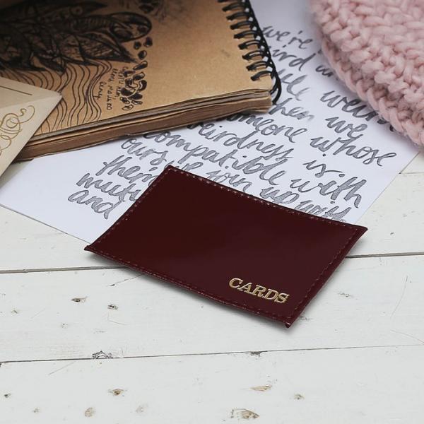Футляр для карточек, цвет бордовый
