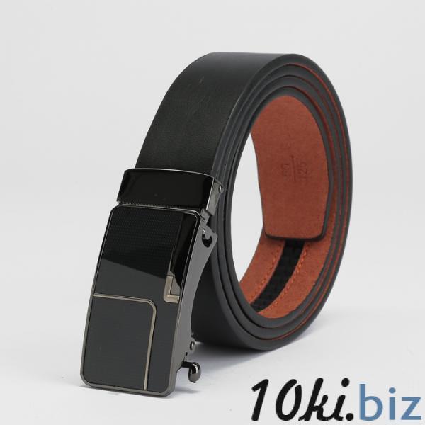 Ремень мужской, пряжка - автомат тёмный металл, ширина - 3,5 см, цвет чёрный купить в Беларуси - Ремни и пояса