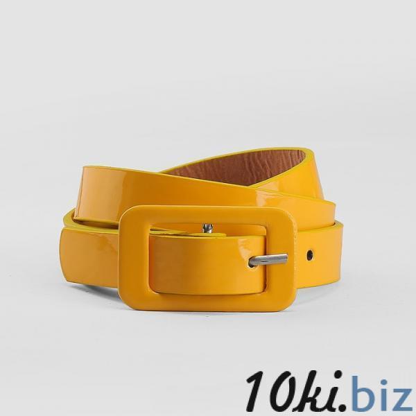Ремень детский, гладкий, ширина - 1,8 см, пряжка в цвет ремня, цвет жёлтый купить в Лиде - Ремни и подтяжки детские для девочек