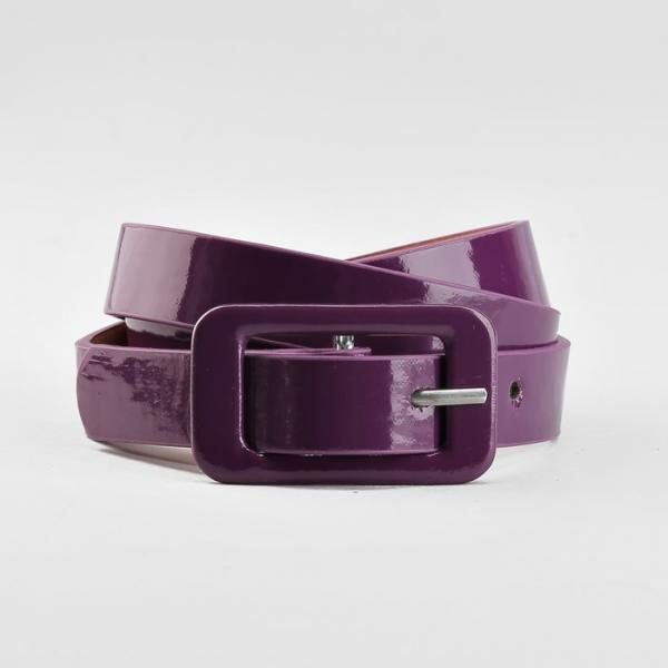 Ремень детский, гладкий, пряжка в цвет ремня, ширина - 1,8 см, цвет фиолетовый