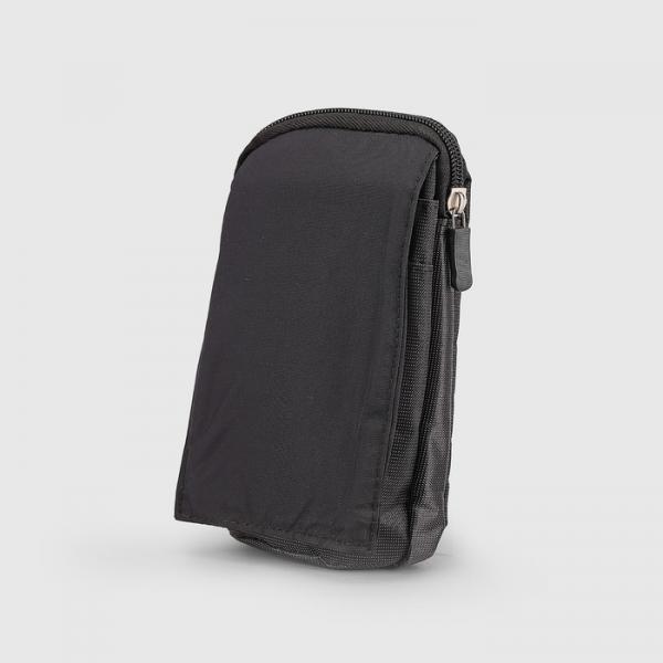 Сумка поясная, отдел на молнии, 2 наружных кармана, с карабином, цвет чёрный