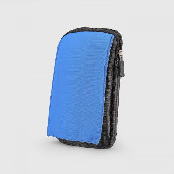 Сумка поясная, отдел на молнии, 2 наружных кармана, с карабином, цвет ярко-синий