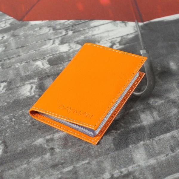 Визитница 18 листов, цвет оранжевый матовый