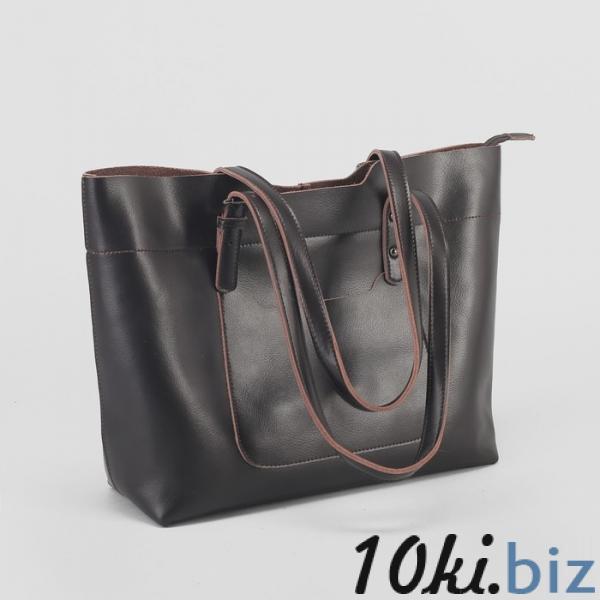 Сумка женская, отдел на молнии, 2 наружных кармана, цвет коричневый купить в Беларуси - Женские сумочки и клатчи