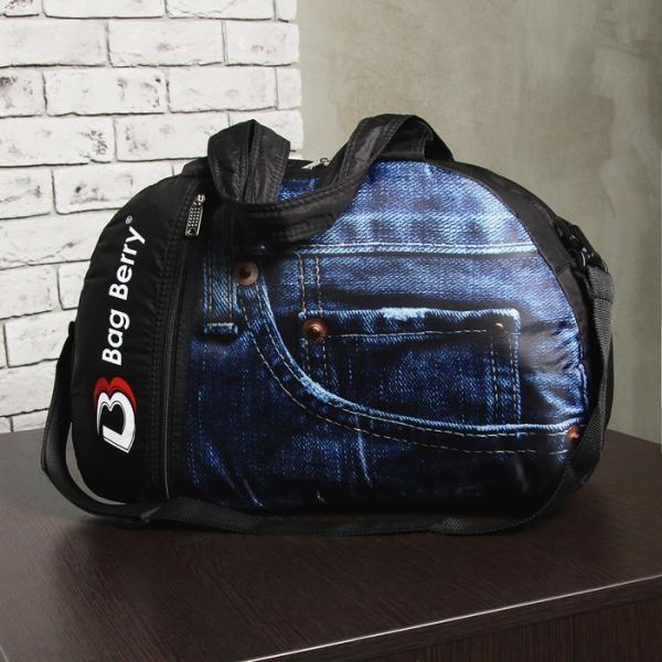 Сумка спортивная, отдел на молнии, наружный карман, регулируемый ремень, цвет чёрный/синий