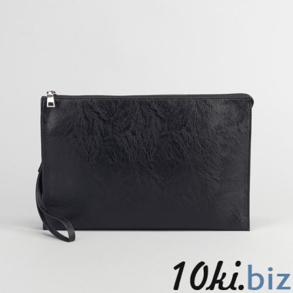 Папка деловая, 3 отдела на молнии, с ручкой, цвет чёрный купить в Беларуси - Женские сумочки и клатчи