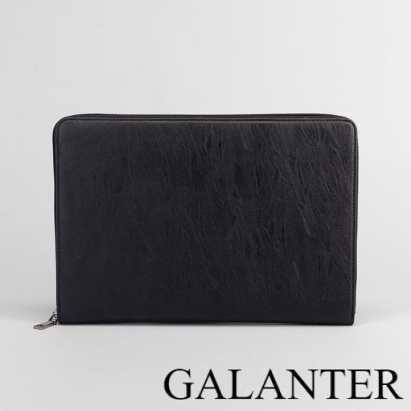 Фото Сумки, Мужские сумки, Деловые сумки Папка деловая, отдел на молнии, с ручкой, цвет чёрный