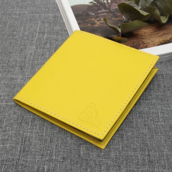 Визитница, 2 ряда, 36 карт, анилин, цвет жёлтый