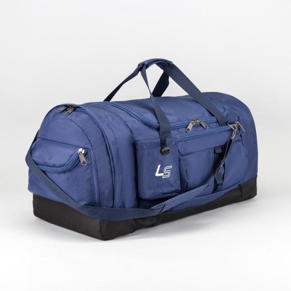Сумка спортивная, отдел на молнии, 3 наружных кармана, для бутылки, регулируемый ремень, цвет синий
