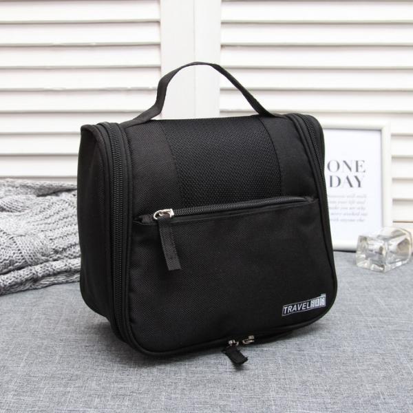 """Косметичка-сумочка """"Круиз"""", отдел с карманами на молнии, наружный карман, цвет чёрный"""