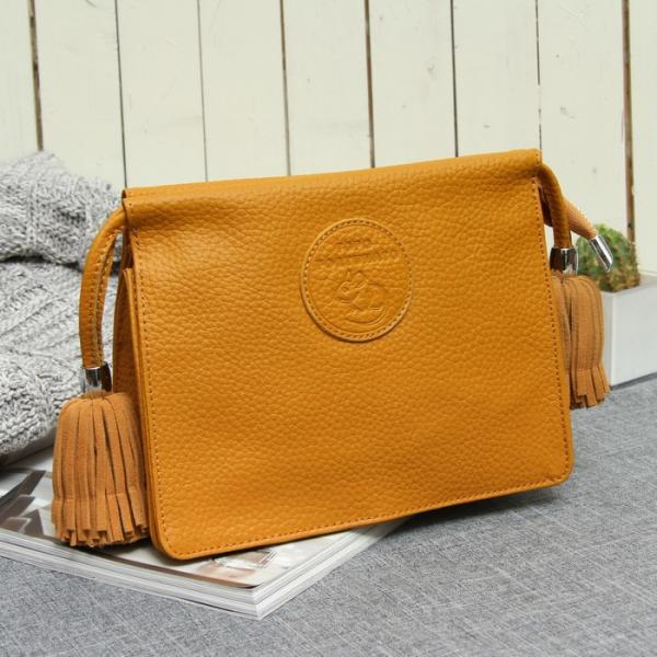 Косметичка-сумочка, отдел на молнии, цвет жёлтый