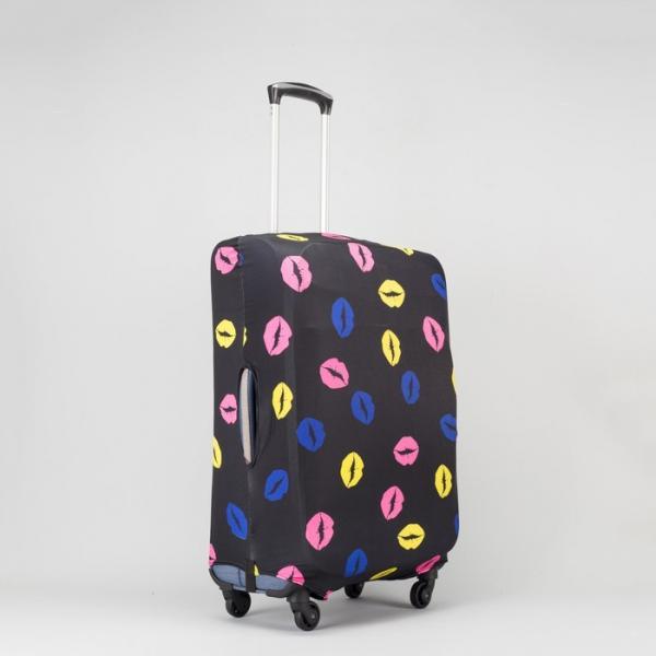 """Чехол для чемодана 24"""", цвет чёрный/разноцветный"""