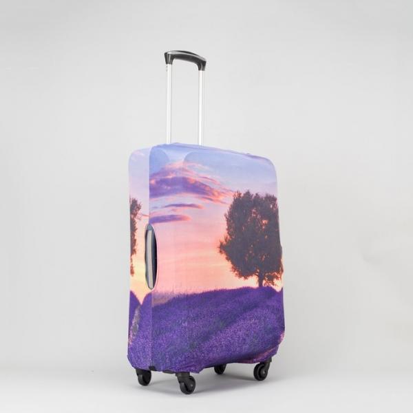 """Чехол для чемодана 24"""", цвет фиолетовый"""