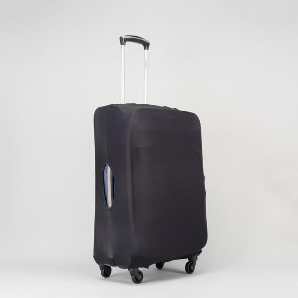 """Чехол для чемодана «Одноцвет», 24"""", цвет чёрный"""